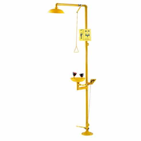 bồn rửa mắt khẩn cấp kết hợp tắm WJH0758 Yellow