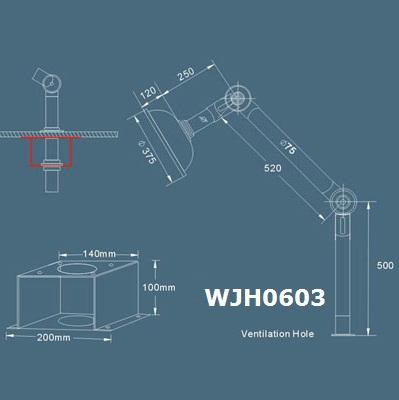 chụp hút khí phòng thí nghiệm WJH0603 catalog