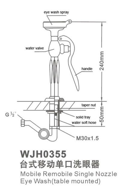 vòi rửa mắt khẩn cấp wjh0355 cataloge